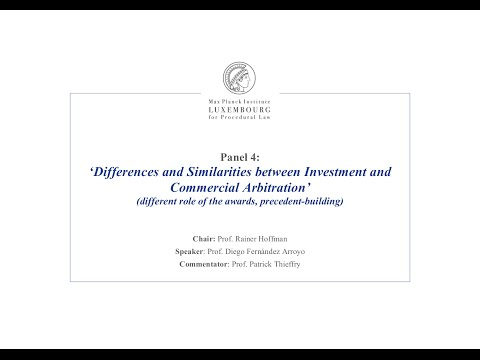 TTIP – Panel 4 - Differences and Similarities between Investment and Commercial Arbitration