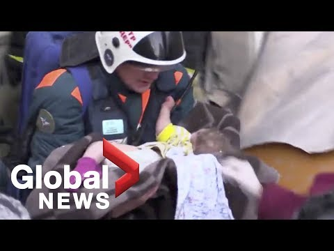 Rescuers find baby alive under rubble after Russia building collapse