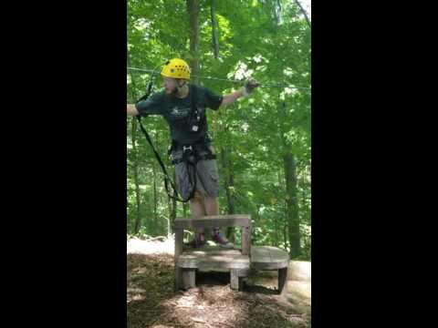 Our guide at Hocking Hills Canopy Tour