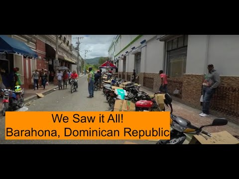 Walking through the city of Barahona, Dominican Republic: May 2019
