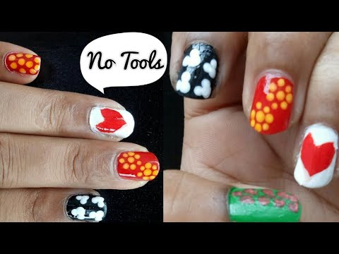 no tools needed 5 easy nail art/simple nail art designs