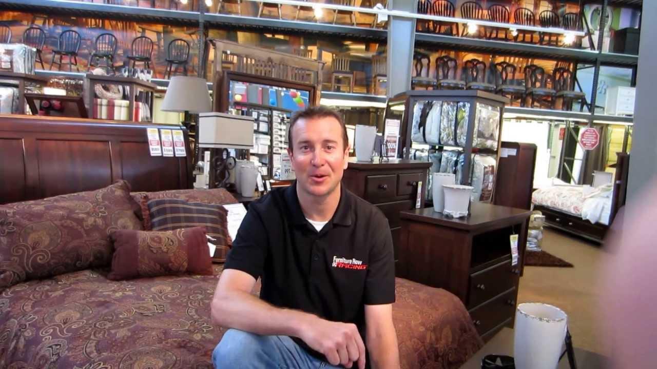 Kurt Busch Talks To Fans From Furniture Row In Daytona Beach