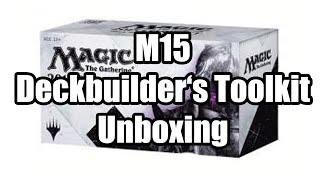 Mtg - M15 Deck Builder's Toolkit  Unboxing [full Hd]