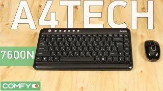 A4tech 7600N - компактный комплект клавиатура и мышь - Видео демонстрация