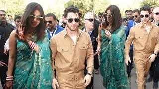 Priyanka Chopra Looks Royal In Mangalsutra And Sindhoor Avatar With Nick Jonas At Jodhpur Airport