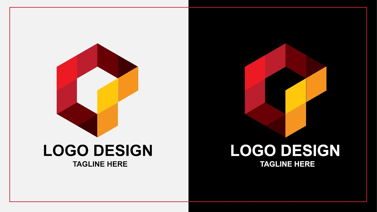 Logo Design   Make Brand icon logo Using polygon Shape   Adobe illustrator tutorial