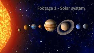 Solar System Video Footage  Planets  Sun Mercury Venus Earth Mars Jupiter Saturn Uranus Neptune ...