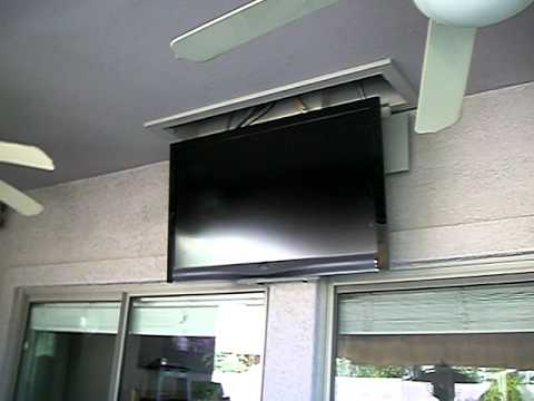 Motorized lcd tv ceiling mount for Vivo electric motorized flip down pitched roof ceiling tv mount