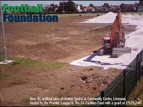 Timelapse video of Anfield Sports & Community Centre, Liverpool.