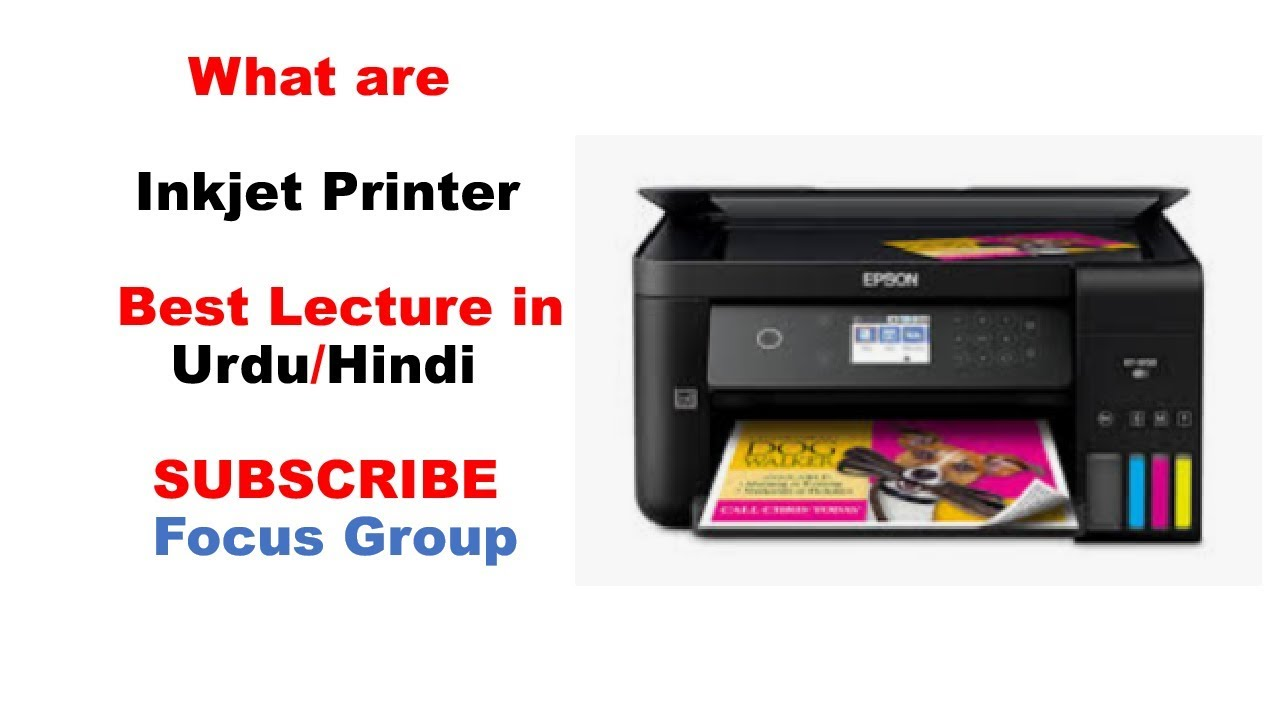 What are Inkjet Printer | How they Work | Lecture in Urdu/Hindi