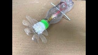 Cách làm quạt mát từ chai nhựa cực đơn giản, không phải dùng đến keo nến. How to make fan