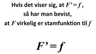 stamfunktion til funktionen f(x) = k  er  F(x) = kx