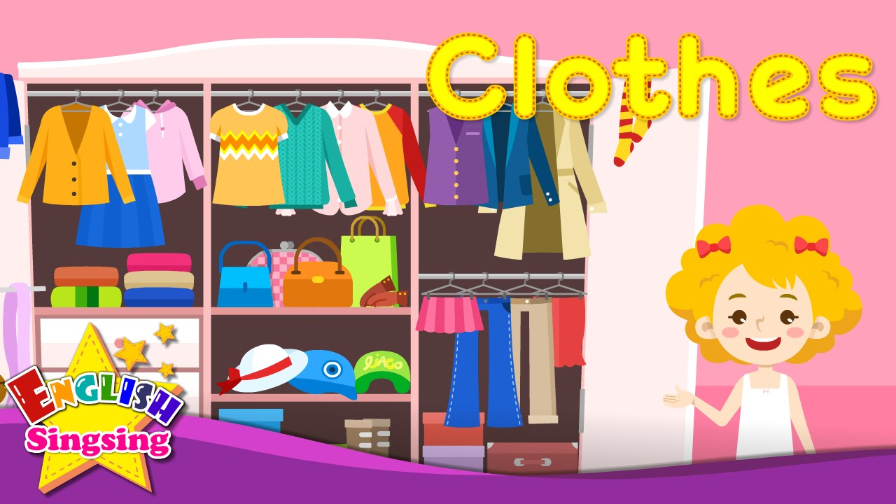 Kids vocabulary – Clothes – clothing – Learn English for kids – English educational video