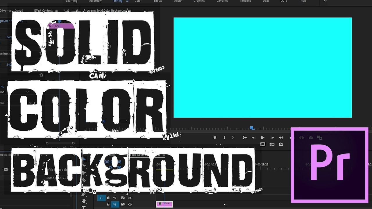 Quickly Create A Solid Color Background Adobe Premiere Pro Cc Tutorial 2020 Youtube