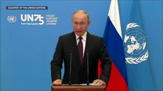 WATCH: Vladimir Putin's speech at the 75th UN General Assembly