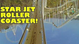 Star Jet Looping Roller Coaster Front Seat POV Washuzan Highland Japan