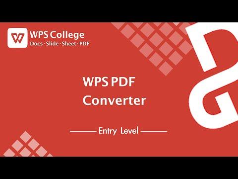 [WPS Office Tutorial] WPS PDF Converter