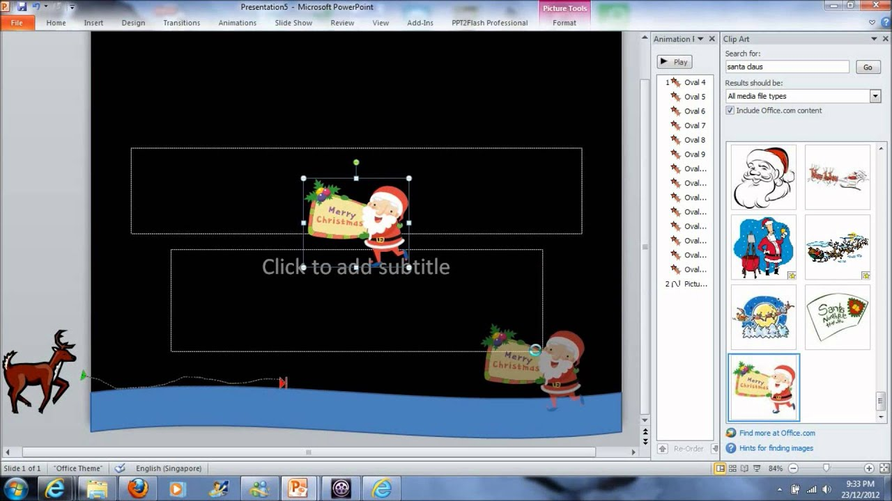 How To Make Simple Animated E Card Using Powerpoint Youtube
