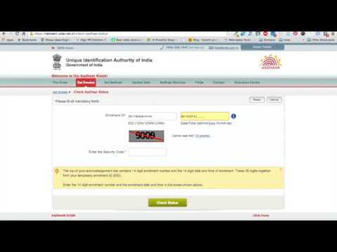 How to check aadhaar card status by name