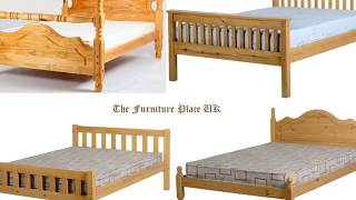 Pine Double Bed Frame and Mattress Designs