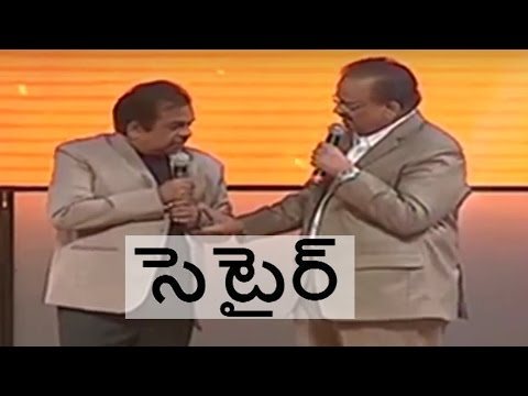 Brahmanandam Satires on SP Balu on Stage of an Award Function.