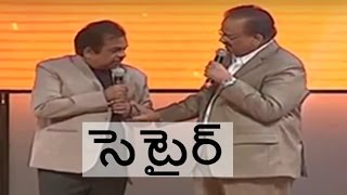 brahmanandam satires on sp balu on stage of an award function