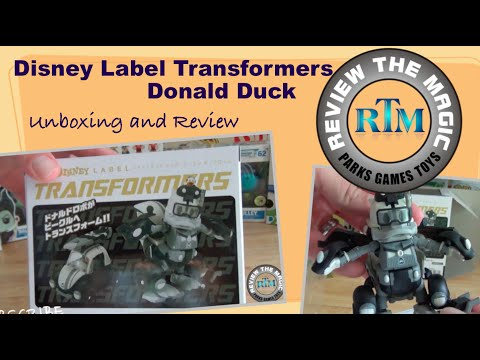 Unboxing and Review Japanese Disney Label Transformer DONALD DUCK   Transform Fail