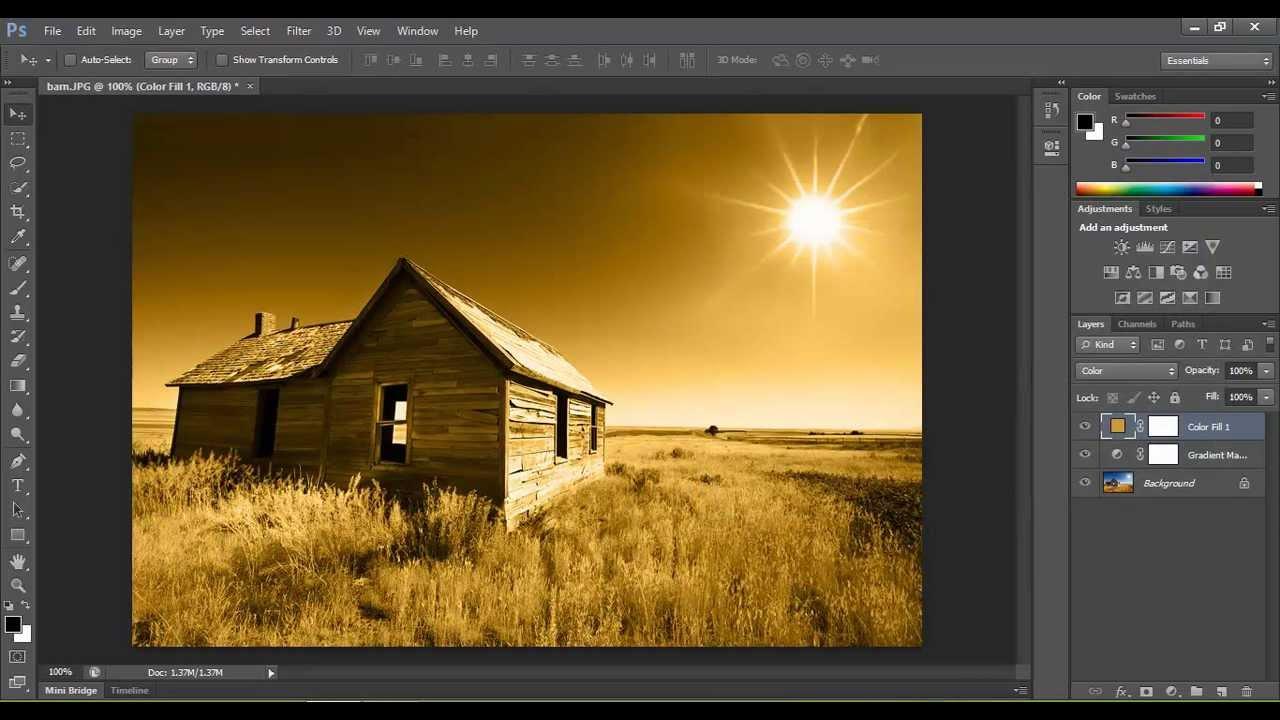 Photoshop Tutorial : Cinematic Color Tone Photoshop Effect ...