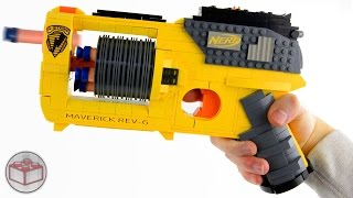 WORKING LEGO NERF GUN (Maverick REV-6)