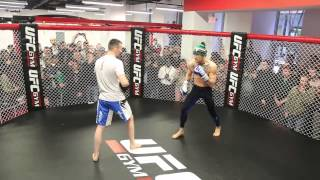 Conor McGregor's epic, avant-garde open workout in Boston