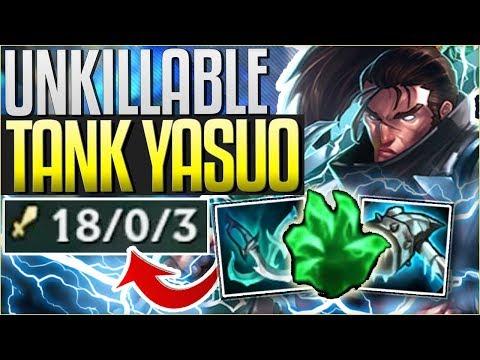 NEW TANK YASUO IS BROKEN! UNKILLABLE & HUGE DMG (NEW RUNES) - League of Legends