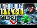 NEW RUNES MAKE TANK YASUO UNKILLABLE! NEW BROKEN BUILD - League of Legends