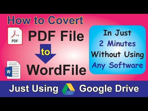 How To Convert PDF To Word File Without Any Software