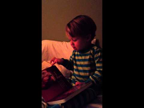 Reading book at bedtime