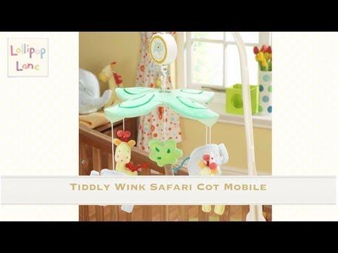 Tiddlywink Safari Cot Mobile from Lollopop Lane