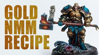 My Gold NMM recipe - painting BEAUTIFUL gold on Warhammer &amp D&ampD miniatures