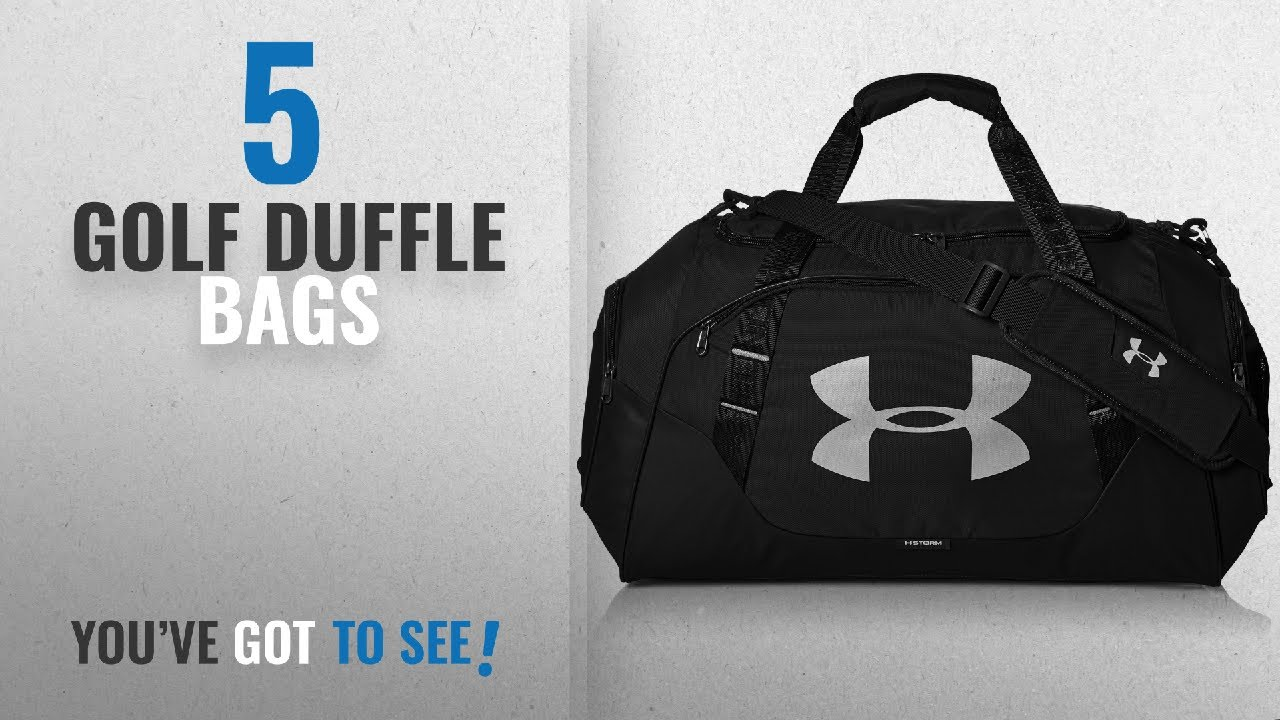 Top 10 Golf Duffle Bags 2018 Under Armour X Storm Medium Duffel Bag Black One Size