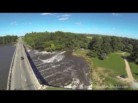 Video aéreo de la Represa de Canelón Grande, Departamento de Canelones, Uruguay
