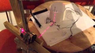 3D fax machine: Laser line