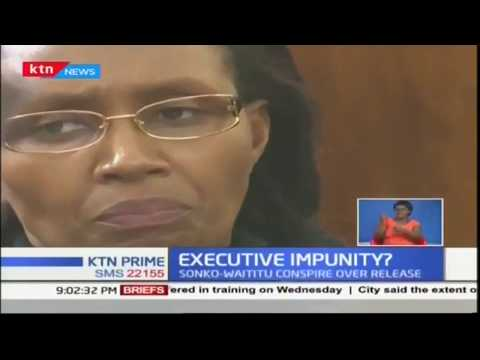 Leaked telephone conversation following arrest of Waititu's wife Susan Wangare over illegal construc