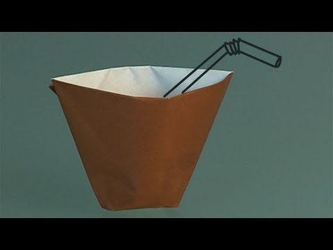 comment faire un gobelet en papier origami youtube. Black Bedroom Furniture Sets. Home Design Ideas