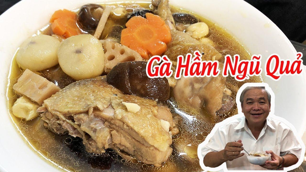 Cách nấu GÀ TIỀM NGŨ QUẢ Cho Mùa Hè Nóng Bức  ★Vietnamese Chicken Soup