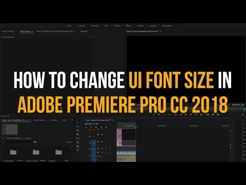 How to Change UI Font Size in Premiere Pro - Quick Tutorial