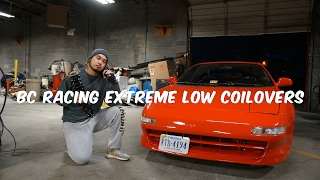 bc racing extreme low coilovers install on mr2