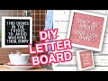 DIY Budget-Friendly Letter Board