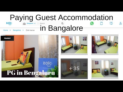 PG In Bangalore || How To Book Zolo Stays Paying Guest Accommodation ?