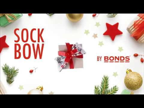 How to wrap tricky gifts: Sock Bow