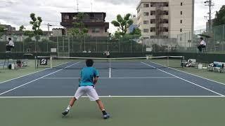 平成30年度全日本学生テニス選手権大会 男子シングルス2回戦 川橋勇太(...