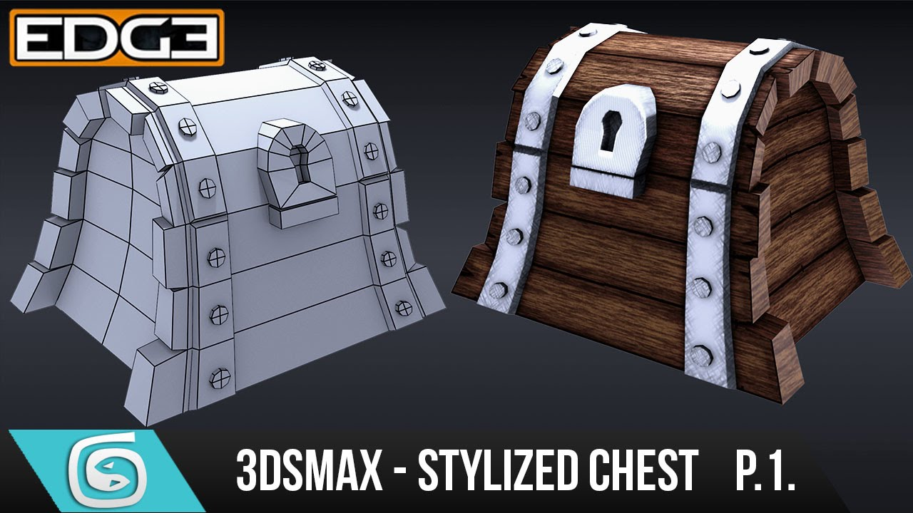 3Ds Max Tutorial for Beginners - How to create a Stylized Chest - Modelling [Part 1]