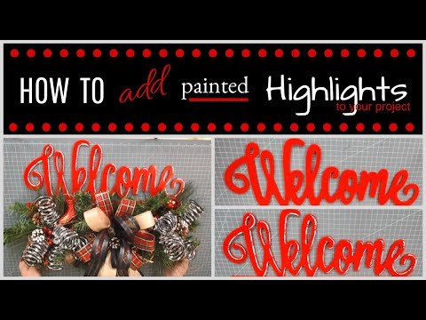 EASY Way To Add Highlights To Wood Cutouts and Signs
